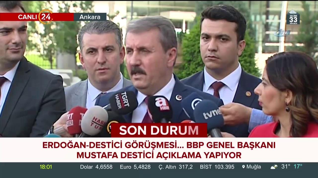 BBP lideri Mustafa Destici, AK Parti Genel Merkez'i önünde açıklama yaptı