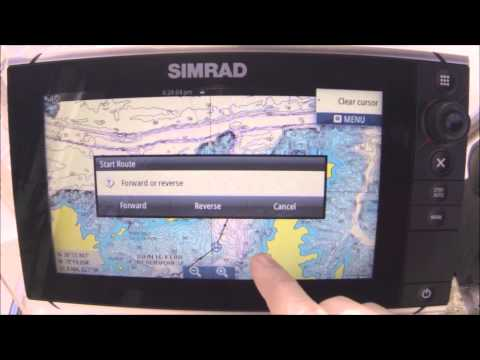 How To Plot a Course, Make a Route, Set Waypoints on Simrad NSS Evo2, NSO Evo2 Pros and Confidence