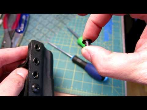DIY Kydex Black Oxide Steel Chicago Screws