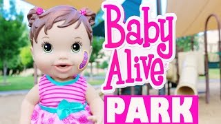 Baby Alive Boo Boo Park Baby Alive Babies Play on Playground Surprise Birthday Baby Alive Doll Hurt