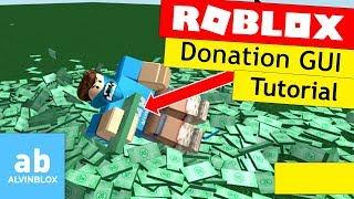 Tutoriel Roblox: Comment faire un don GUI