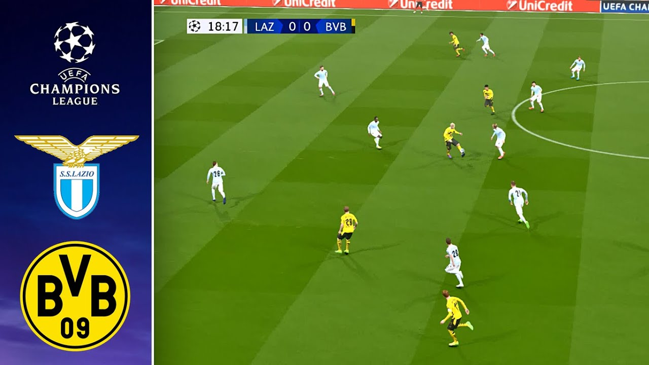 Lazio Vs Borussia Dortmund Uefa Champions League 2020 2021 20 October 2020 Pes 2017 Pc Hd Youtube
