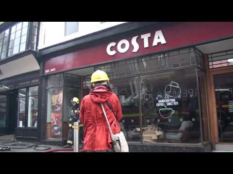 The Royal Clarence Hotel Fire : Inside Costa Coffee