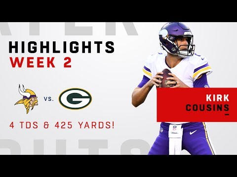 Kirk Cousins' 4 TDs & 425 Yards vs. Green Bay!