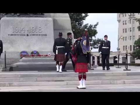 Ottawa, Ontario, Canada - National War Memorial - Changing of the Guard HD (2015)