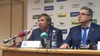 Олег Знарок и Валерий Белоусов на пресс-конференции