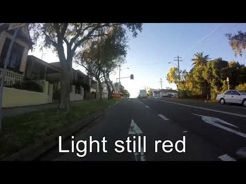 White van goes through red light on Lilyfield road