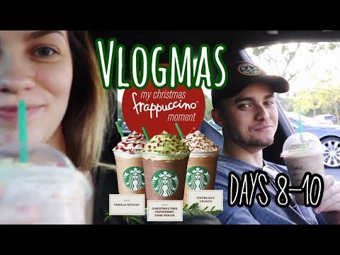 VLOGMAS Days 8-10 | Trying The Starbucks Christmas Tree Frap