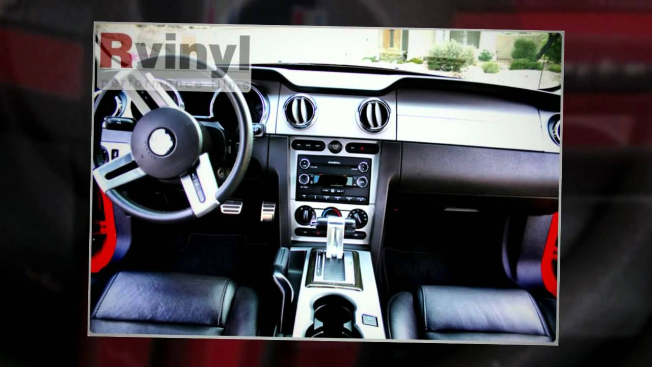 2005 ford mustang rvinyl dash kit customer installation slide show youtube. Black Bedroom Furniture Sets. Home Design Ideas