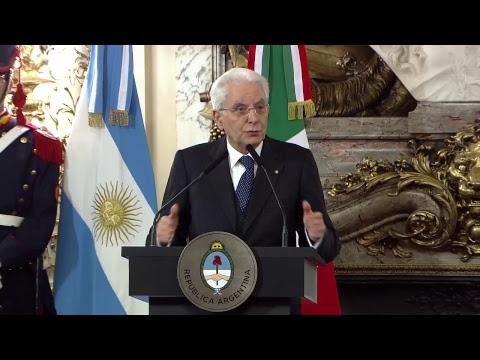 Declaración conjunta de los presidentes Mauricio Macri y Sergio Mattarella