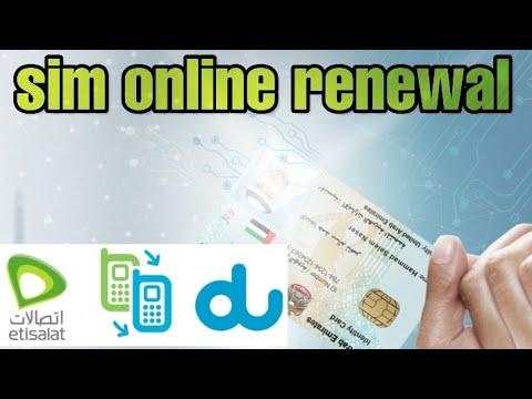 Sim Online Renewal Etisalat & Du 2019
