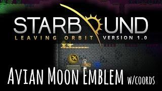 STARBOUND 1.0 - Ep7 - Breathing EPP/Avian Moon Emblem w/ coordinates (Full Release)