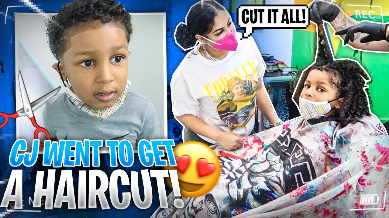 CJ'S FIRST BIG CHOP😱 (MOMMY WAS SAD)