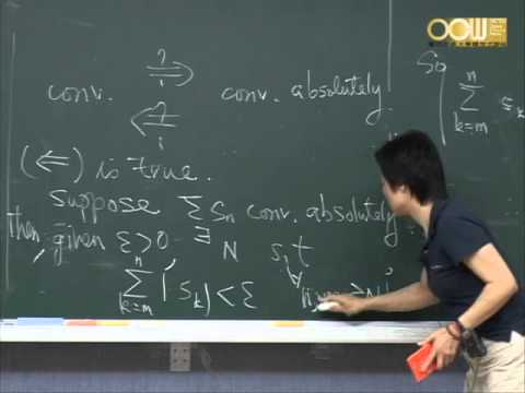 Lec13 高等微積分(一) 第三章 Numerical Sequences and Series