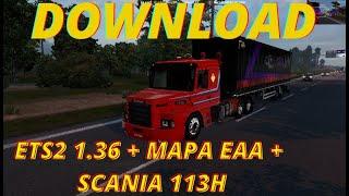 Download Euro Truck Simulator 2 1.36 + Todas as DLC + Mapa EAA ( Veja no video como Baixar )