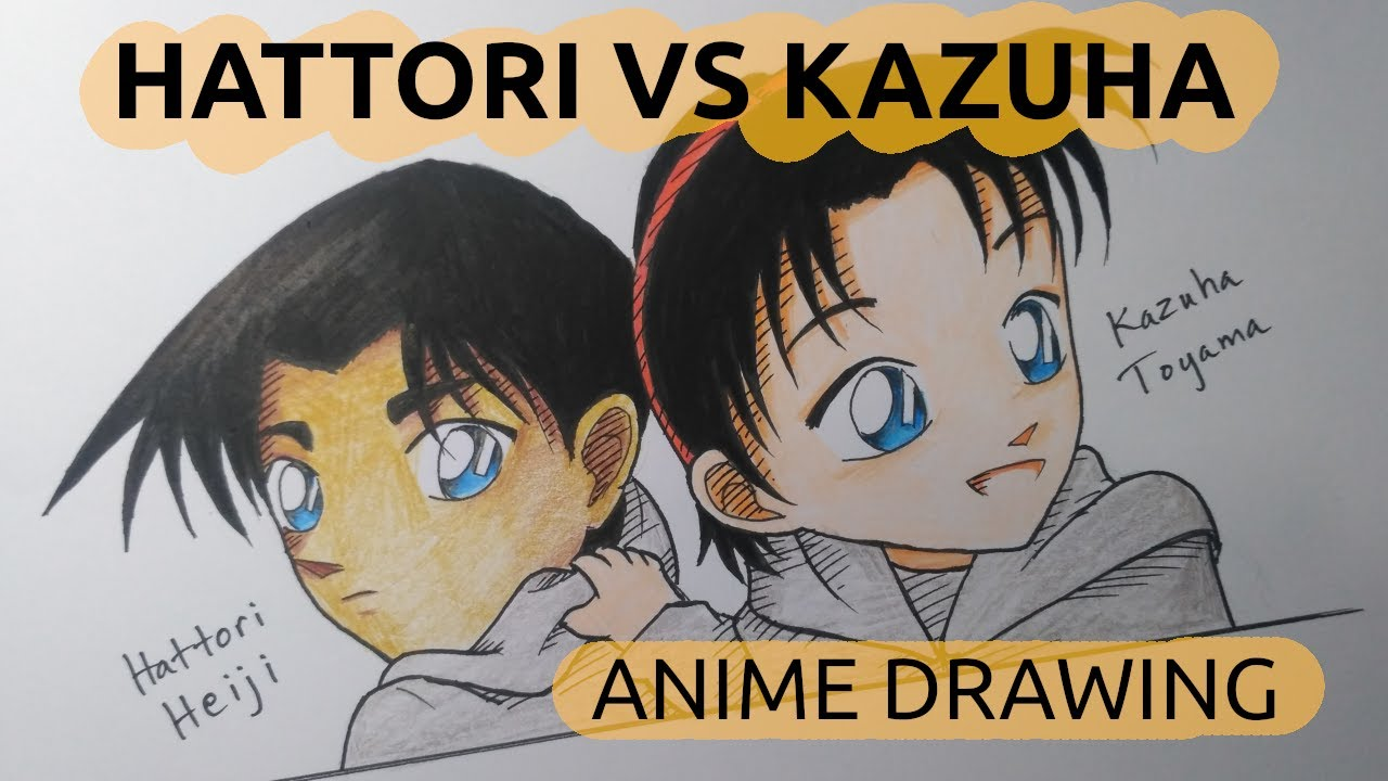 Vẽ Thám tử Miền Tây Heiji Hattori và Kazuha (lúc nhỏ) trong Thám tử lừng danh Conan – TDEN