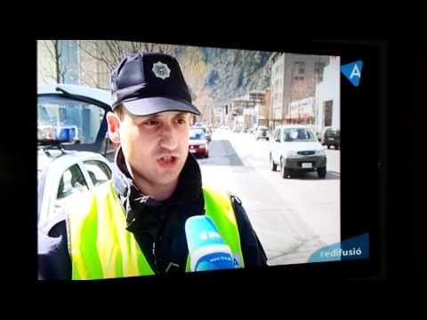 Noticias televisión de Andorra, controles policía a motoristas