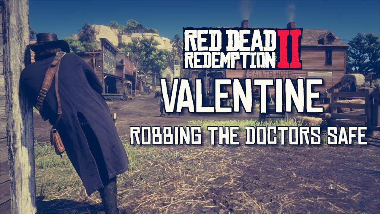 Red Dead Redemption 2 Valentine Robbing Doctors Safe Low Bounty