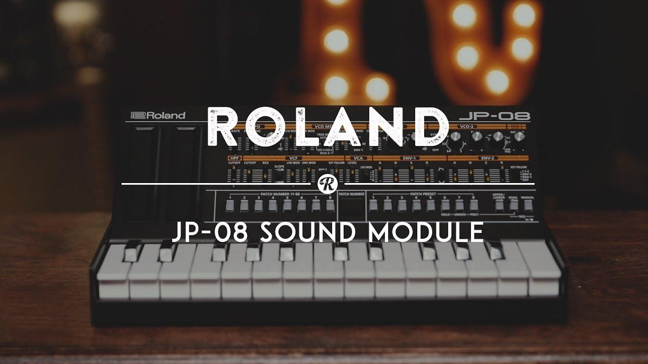 roland jp 08 jupiter 8 sound module reverb demo video youtube. Black Bedroom Furniture Sets. Home Design Ideas