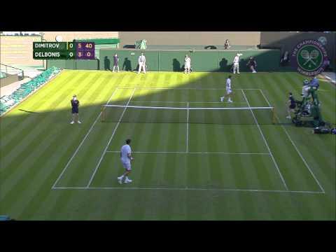 Grigor Dimitrov 1R  - Wimbledon 2015 Highlights