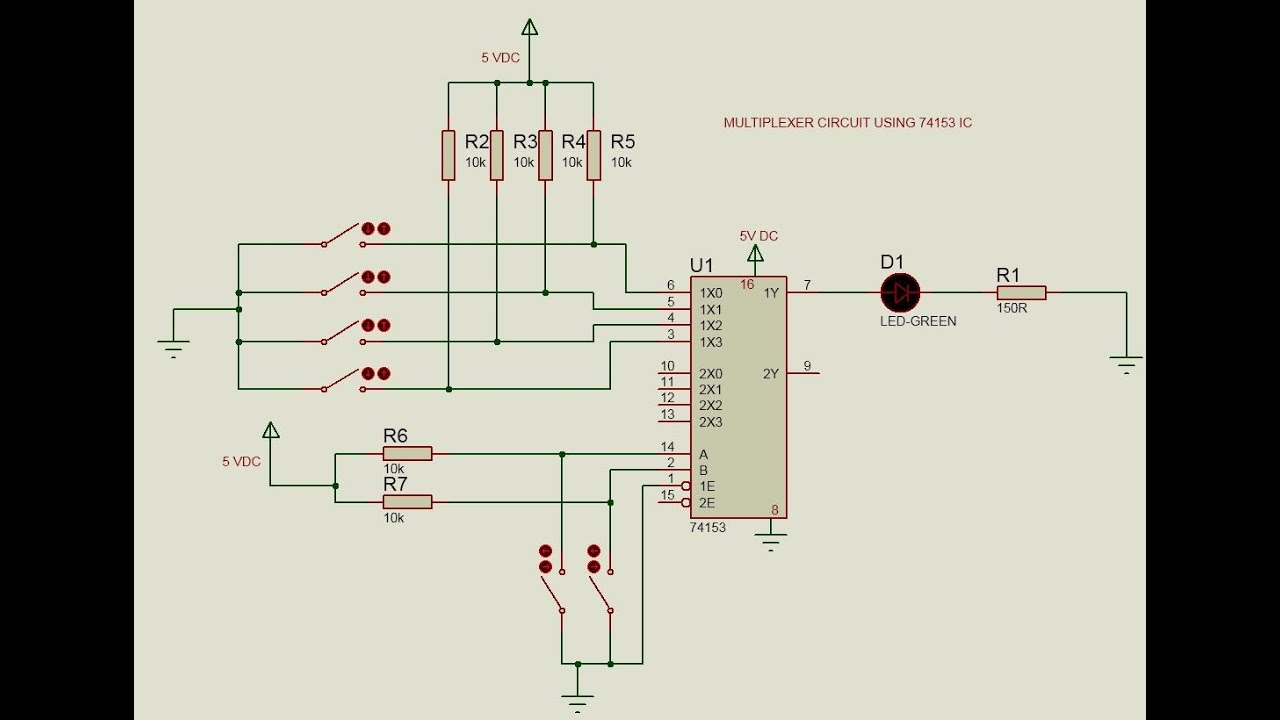 8 1 Multiplexer Logic Diagram Not Lossing Wiring Mux Circuit Using 74153 Youtube 16 X To