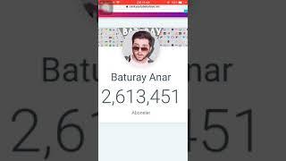 Baturay anar 1 dakikada kaç abone kazanıyor ?
