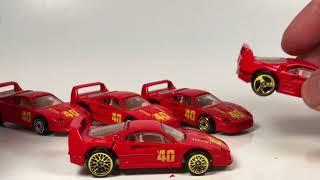 10 Car Tuesday - Ferrari F40 Hot Wheels and One Matchbox