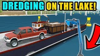DIGGING GRAVEL OUT OF THE LAKE FOR THE NEXT PROJECT | FARMING SIMULATOR 2017
