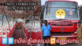 TNSTC Coimbatore New Red Bus Tata Town Bus Red Town Bus