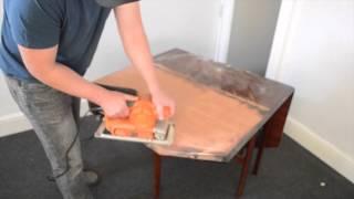 A Botched Job Sanding A Mahogany Table Using Worx Sander