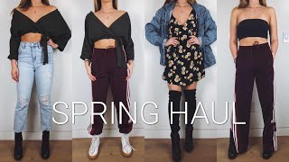 SPRING HAUL + SIMPLE TRENDY OUTFITS ft. MADDY CRUM