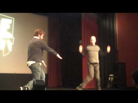 Jon and Jay warm up the crowd