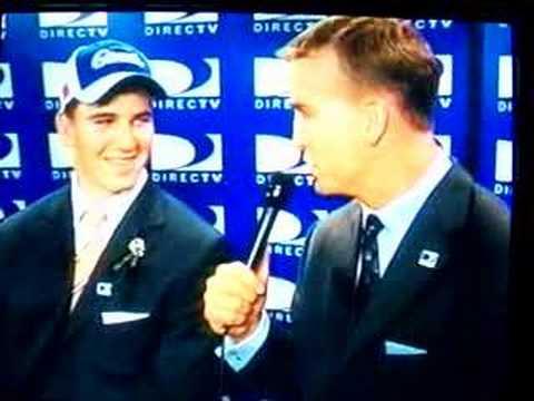 Peyton interviewing Eli Manning