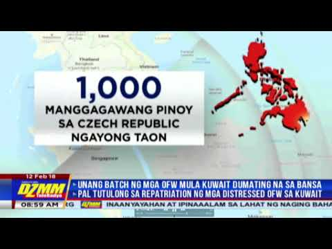 Filipino workers from Kuwait can move to Czech Republic: labor official