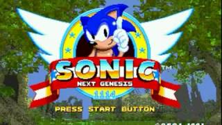 Sonic Next Genesis [Sonic Hacking Contest 2016 Version] (Genesis) - Walkthrough