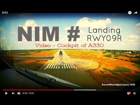 Landing @ NIAMEY - Diori Hamani Int'l Airport (NIM/DRRN) Niger # Cockpit View - RWY09R