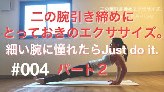 BW#004【二の腕引き締め。】REVERSE PUSH UPS2【ファンクショナルトレーニング】