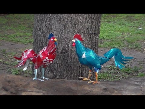 Gallo Hecho con Latas Tutorial (Rooster Made with Cans Tutorial)
