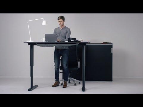 Bekant Hohenverstellbarer Schreibtisch Youtube