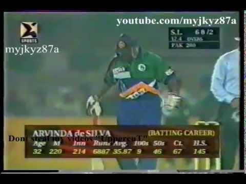 Arvinda Desilva 102* vs Pak at  lahore 1997