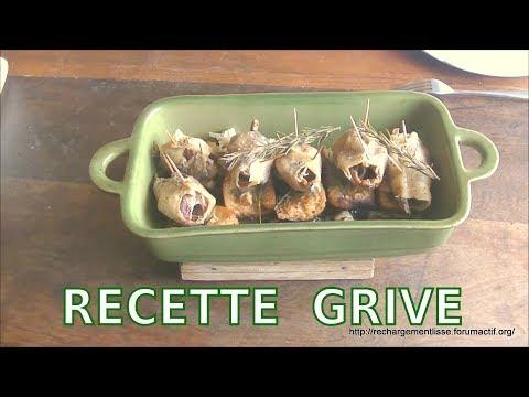 RECETTE DE GRIVES