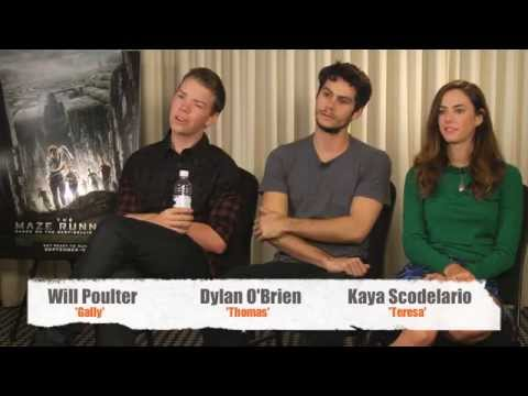 THE MAZE RUNNER Interview - Dylan O'Brien, Kaya Scodelario & Will Poulter |