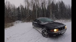 BMW E39 Winter Drift POV