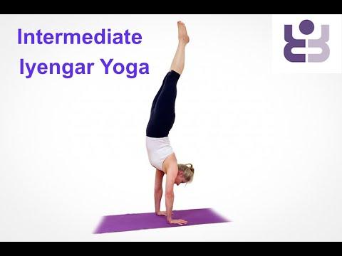 Intermediate Iyengar Yoga Class. Towards Adho Mukha Vrksasana Handstand