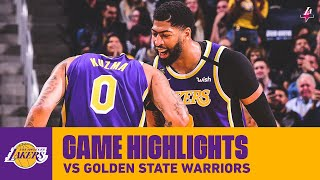 HIGHLIGHTS   Los Angeles Lakers Vs. Golden State Warriors