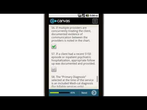Canvas Mental Health Plan Audit and Review Mobile App