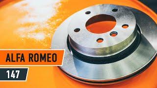 Montaje Pastilla de freno traseras y delanteras ALFA ROMEO 147: vídeo manual