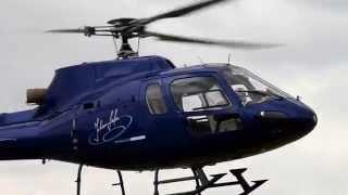 HELISEVEN Mannheim D-HEPT Hubschrauber Takeoff