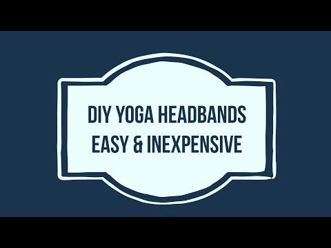 Cheap & Easy DIY Yoga Workout Performance Fabric Headbands