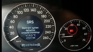 Removed error SRS Restraint System Defective on Mercedes W211 / RESET Restraint System Defect SRS